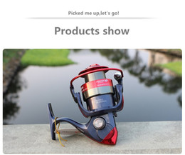 AM2000-7000 series 12BB black red color pesca fishing wheel can swap the left and right folding spinning fishing reels pesca tackle