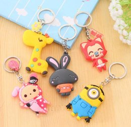 Wholesale toys promotion sales keychain cartoon Despicable Me keychain car pendant small yellow people Despicable Me Minion key chain doll gift