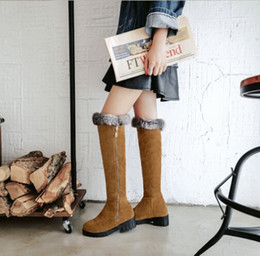 Winter Women Stretch Slim Suede Leather Over the Knee Boots Thigh High Boots Sexy Fashion High Heel Women Shoes Size 34-43