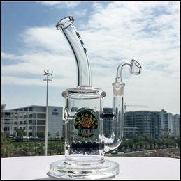 Descuento cuarzo agua El más nuevo bongs de cristal Beehive en línea Perc del agua Bong que fuma los accesorios de la pipa del aceite de la pipa Bong la junta de 14.5mm con las cigüeñas del cuarzo Banger DGC1257