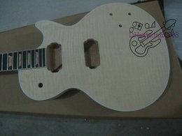 Custom Shop Mahogany Body Unfinished Electric Guitar Kit With Flamed Maple Top