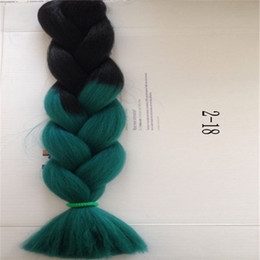 Ombre Synthetic Braiding Hair Bulks Extensions Hair in Braid 100G 24 inch Two Tone Ombre Braid Hair Bulk Jumbo Braid Hair Extensions