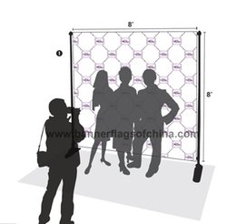 Wholesale Freeshipping Adjustable x8 Step And Repeat Backdrop Telescopic Banner Stand System For Trade Show