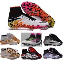 Wholesale nouveau gazon Superfly FG tf AG Chaussures de soccer de haute cheville Chaussures de football ACC Hommes Outdoor Superfly CR7 Crampons Avec Chaussettes Livraison gratuite