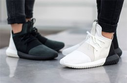 Wholesale sale cheap sneaker flats shoes BLACK WHITE RED running couple outdoor skate Tubular Defiant mesh womens run shoes