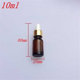 Wholesale 10 x80 mm DIY ml Brown Glass Essential Oil Bottles Reagent Liquid Pipette Jars Aromatherapy Dropper Bottles