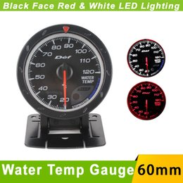 Wholesale 60mm Water Temp Gauge D fi Cr Advance Car Water temperature Gauge with sensor Auto Gauge Face LED Water Temp Meter Defi Gauge