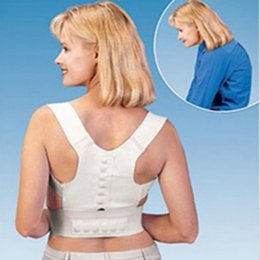 Wholesale Magnetic Back Shoulder Posture Corrector Back Support Straighten out Brace Belt Orthopaedic Adjustable Unisex Health belt cp