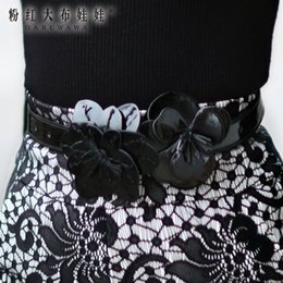 Wholesale Pink Doll authentic new clothing accessories with three dimensional flower all match belt D14EAD002