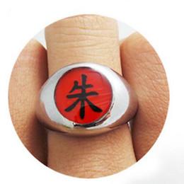 10pcs set Naruto cosplay Akatsuki Member's Rings for kids with gift box