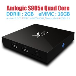 Wholesale X96 S905 plus Amlogic S905x quad core Android Kodi Smart TV Box dual band wifi K Media Stream Player set top box