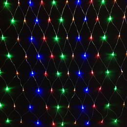 Rgb led net à vendre-Chaîne led 1,5 x 1,5 96leds net lumières 8modes Xmas Party Mariage Lumières de Noël Décoration extérieure Éclairage de vacances