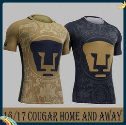 Wholesale DHL Mixed buy Thailand Quality Mexico club Pumas UNAM Home Gold Away blue soccer jerseys camisetas de futbol Cougar Pumas UNAM fo