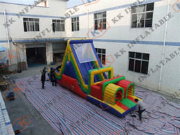 Wholesale Hot racing and climbing Obstacles Outdoor Tunnel inflatable obstacle course for kids