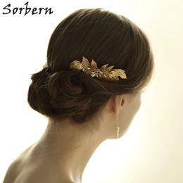 Sorbern Gold Silver Leaf Wedding Headpiece Hair Combs Bridal Hair Accessories Handmade Hair Jewelry For Women Headpiece Free Shipping 2018