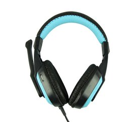 Bruit bleu annulation à vendre-2016 NEWEST casque stéréo avec microphone BLEU Computer Gaming Headset écouteurs pour casque antibruit informatique