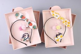 Wholesale Hot Sale Lace Colorful Flower Headbands With Hair Rubber Bands Bow Headbands Set Children Hair Accessories Festive Party Supplies