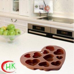 Wholesale Throught FDA LFGB Approved Customized Silicone Chocolate Mold Heart shape Multi Style Cake Tools silicone cake mold Valentine belling gift