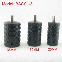 Knurled Black Aluminum Tattoo Grip Tube With Back Stem For Tattoo Machine Power Kit Set Supply