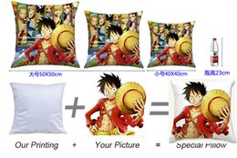 Wholesale Anime One Piece Custom Decorative Pillow Cover Sofa Cushion Custom Made Chair Seat car home Decorative Throw Pillow without Core