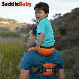 Wholesale Kids Shoulder Carrier Saddle SaddleBaby outdoor Carrier children s saddle shoulder strap Baby Seat free Ankle Straps