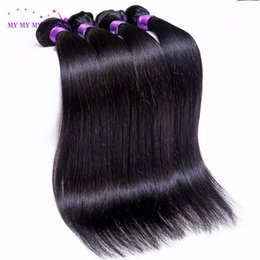 Wholesale hair wefts Brazilian Straight Hair Weave xuchangruijiaHair Store A Brazilian Virgiin Hair Straight bundles Wet And Wavy Thick