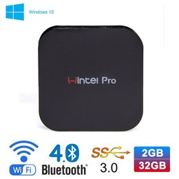Wholesale Wintel Pro Windows TV Box Intel Z8300 Quad core GHz bit CPU G G Streaming Media Player Support Bluetooth WIFI