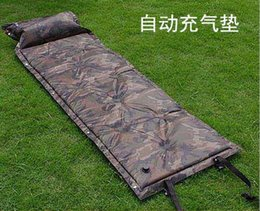 Wholesale Automatic Inflatable Camping Mat Camouflage Tent Air Cushion Outdoor Leisure Sleeping Mattress With Pillow
