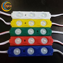 led module 2835 3 led module injection Modules Yellow Green Red Blue White Warm White Waterproof IP68 DC12V