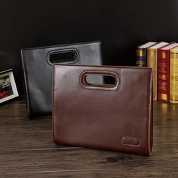 Sac d'affaires en Ligne-Casual Sacs d'affaires Retro Envelope F285 Businessman Trendy Fashion Totes Briefcase Fichier Holder Package Sac en cuir PU Hommes
