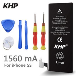 Wholesale 100 Original Brand KHP Phone Battery for iphone S Real Capacity mAh With Machine Tools Kit Mobile Batteries