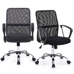 Wholesale IKAYAA Ergonomic Adjustable Mesh Office Executive Chair Stool Swivel Computer Task Chair Office Furniture US STOCK H16713