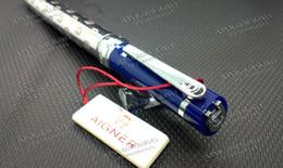 Free shipping ! ! Aigner Pen ballpoint pen Oblique Head Series Resin And Metal skyblue Color Golden   Silver Clip