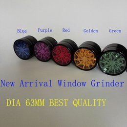 Wholesale 100 Original Herb Grinders mm Aluminium Alloy Grinders With Clear Top Window Lighting Grinder Metal Grinder