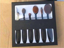 Wholesale Ana Logo Oval Makeup Brush Cosmetic Foundation BB Cream Powder Blush pieces Makeup Tools free DHL set