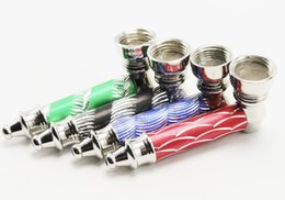 30pcs colorful Metal Pipe Jamaica Rasta Tobacco   Smoking Pipes hand pipes Mill Smoke Detectors smoking pipes quick seller