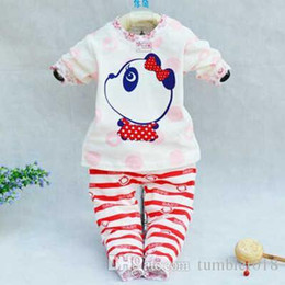 2016 new fashion children autumn clothes suit cartoon cute cotton t-shirts underwear cute bear boys and girls sport suit