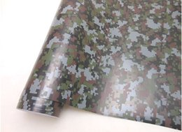 Wholesale Digital Camouflage Car Protective Vinyl Film Wrapping Sticker Self adhesive with Air Drains m Roll Fedex