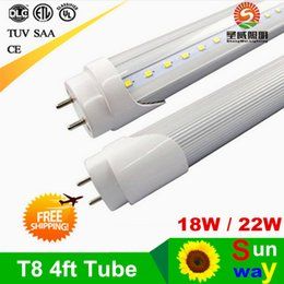 Wholesale No ballast T8 LED tubes ft mm led tube lights W W Warm Cold White replacing w T8 fluorescent light ac85 v CE UL