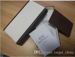 Wholesale 2016 Luxury Brand Daniel Wellington Watch Box Dw Original Watch Box With Instructions And Manual Case cm Without Watch in stock