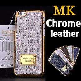 Wholesale Luxury Brand Chrome Leather Cover Hard Case For iPhone Plus S SE S Samsung Galaxy S7 S6 Edge Note With Logo MOQ