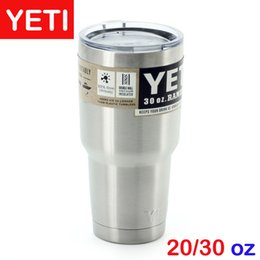 Wholesale YETI Cups Cooler Stainless Steel Rambler Tumbler Cup Car Vehicle Beer Mugs Vacuum Insulated Mug oz oz oz Christmas gift