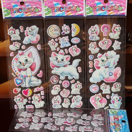 Wholesale Small Package Wholesale - 3D Cartoon Sticker For Girls Snow White Little Pony Marie Cat Monster High Barbie Dressup Girl Doc Mcstuffins