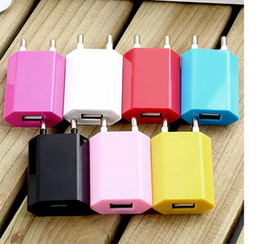 US & EU Plug Wall USB Charger Universal AC Power Adapter For iPhone Samsung HTC LG colorful Charger Adapter