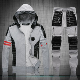 Wholesale Best Price Autumn Winter Trend Fashion Philipp Big Skull PP Logo Men s Plein Hoodies Pants Tracksuits