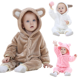 Spring Cute Baby Flannel Rompers Warm Long Sleeve Baby Clothes Autumn Baby Clothes Cartoon Jumpsuit JY018