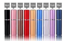 Factory Price 5ml Refillable Perfume Spray Bottle,Alumina and Glass Perfume Atomizer Bottle Spray (Colorful)