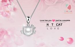 lingdong fashion Exquisite KT cat shaped pendant 2016 new 925 Sterling Silver Necklace Jewelry Gift for Valentine's Day Free shipping