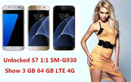 Wholesale Goophone S7 EDGE GB RAM G Network Quad Core MTK6582 Rear Camera MP Phone S7 clone mb gb Android smartphone free