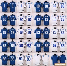 Wholesale 2016 Elite Mens Jerseys Pat McAfee Andrew Luck D Qwell Jackson Erik Walden Free Drop Shipping